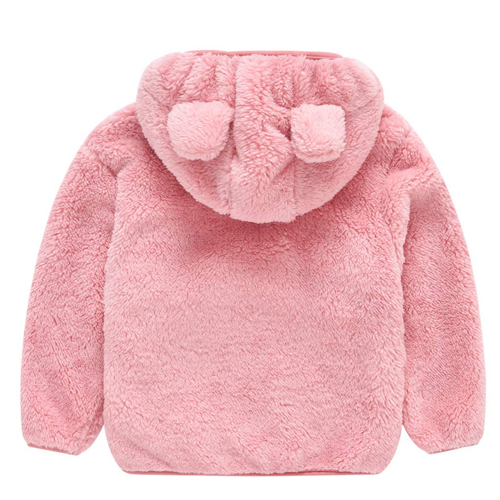 2019 New Cute Bear Ear Hooded Thick Winter Coat Outwear Jacket for Kids 1-4 Yrs Goddesslili Toddler Girl Boy Clothes Wonderful Birthday//Surprise Gift Multi Colors