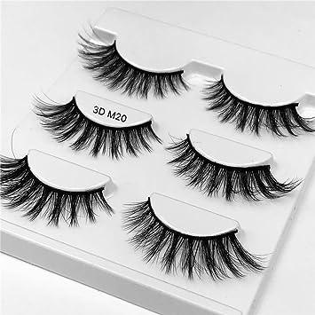 f25847de8e2 False Eyelashes-3 Pairs Black Eyelashes Natural Fake Eye Lashes Long 3D  Eyelashes Extension Eyelashes for Beauty Tools Style M20: Amazon.ca: Beauty