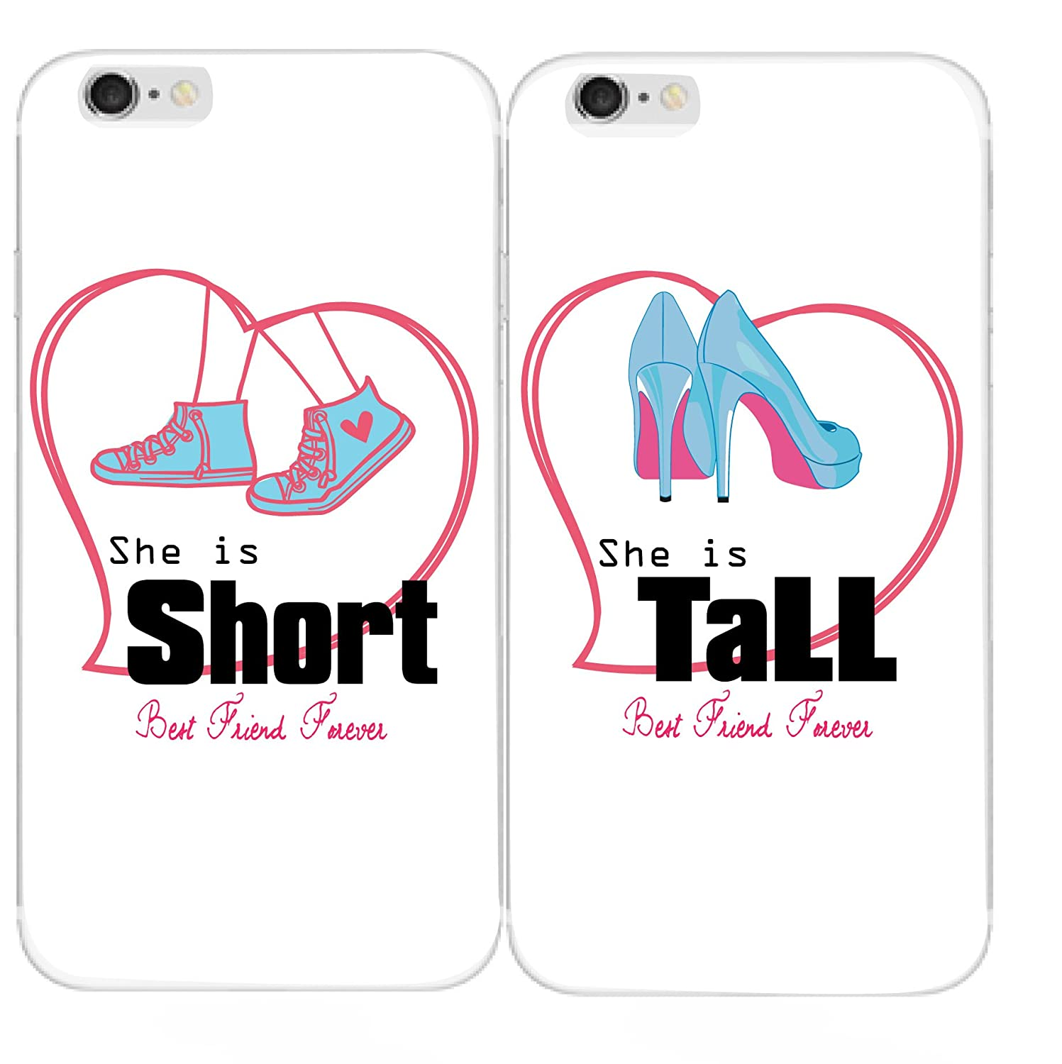 online store b7b8a c65c4 Shark Compatible Short & Tall Girls Best Friend Matching Couple Phone Case  Replacement for iPod Touch 5/Touch (2cases for touch5/6th)