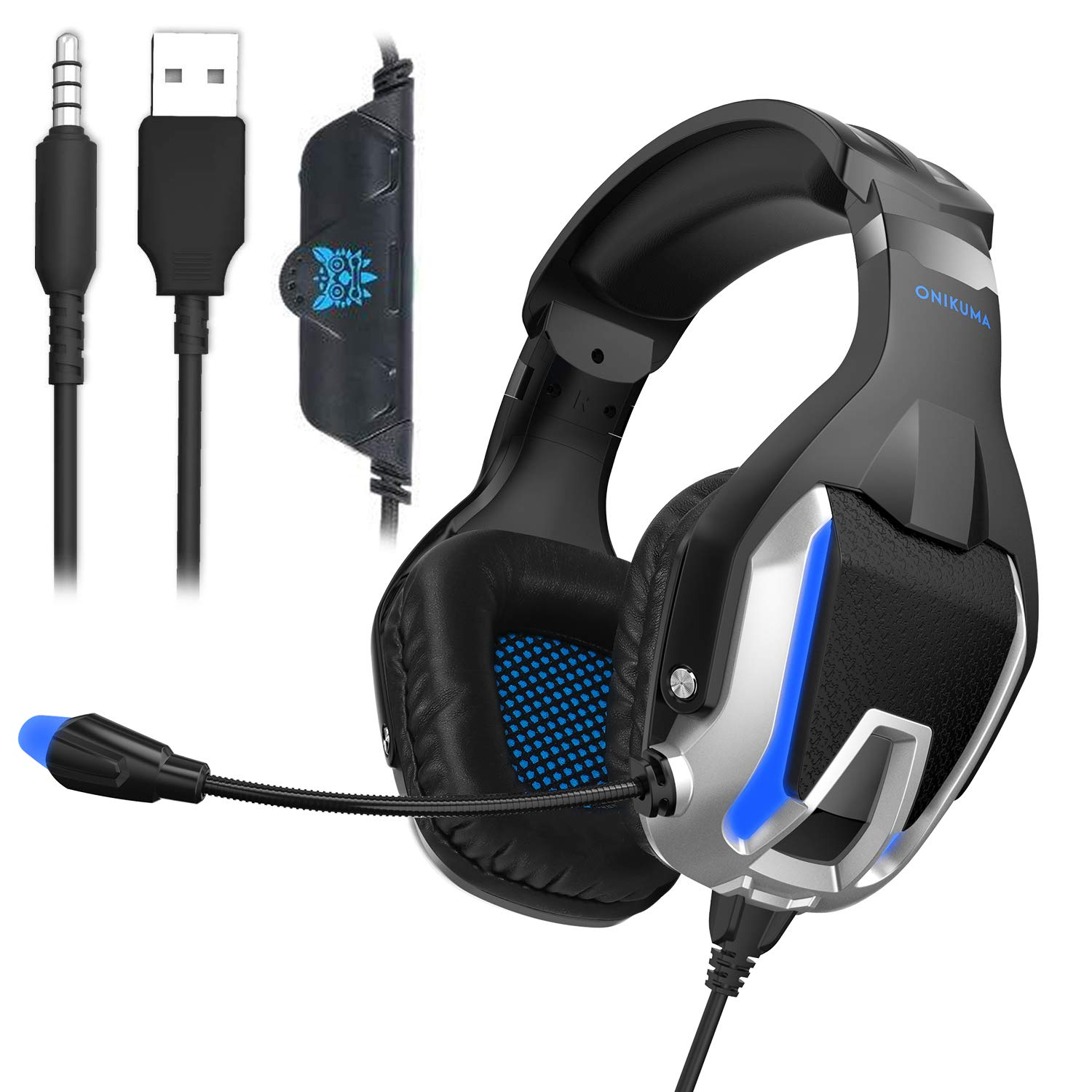 SADES SA819 Gaming Headset Headphone Wired 3.5mm Over-Ear with Mic Volume Control for PC XboxOne PS4