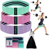 Kinghan Resistance Exercise Bands,Booty Bands, Non Slip Resistance Bands for Legs and Butt, Workout Bands Exercise Bands…