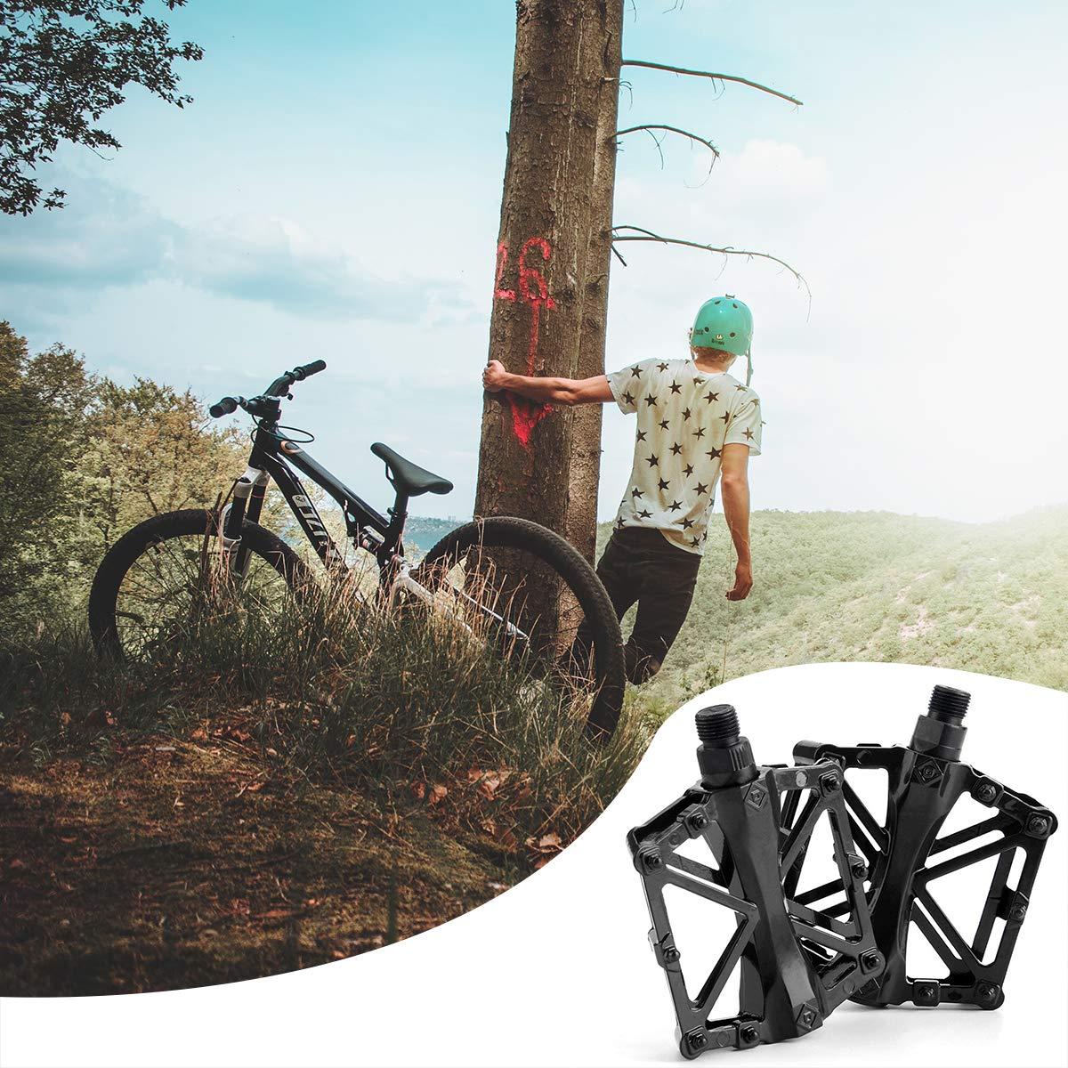 p/édale de Randonneur pour Une p/édale de v/élo de Montagne Ultra-l/ég/ère Durable en Alliage daluminium Anti-d/érapant ZONSUSE P/édale VTT,P/édale de Bicyclette