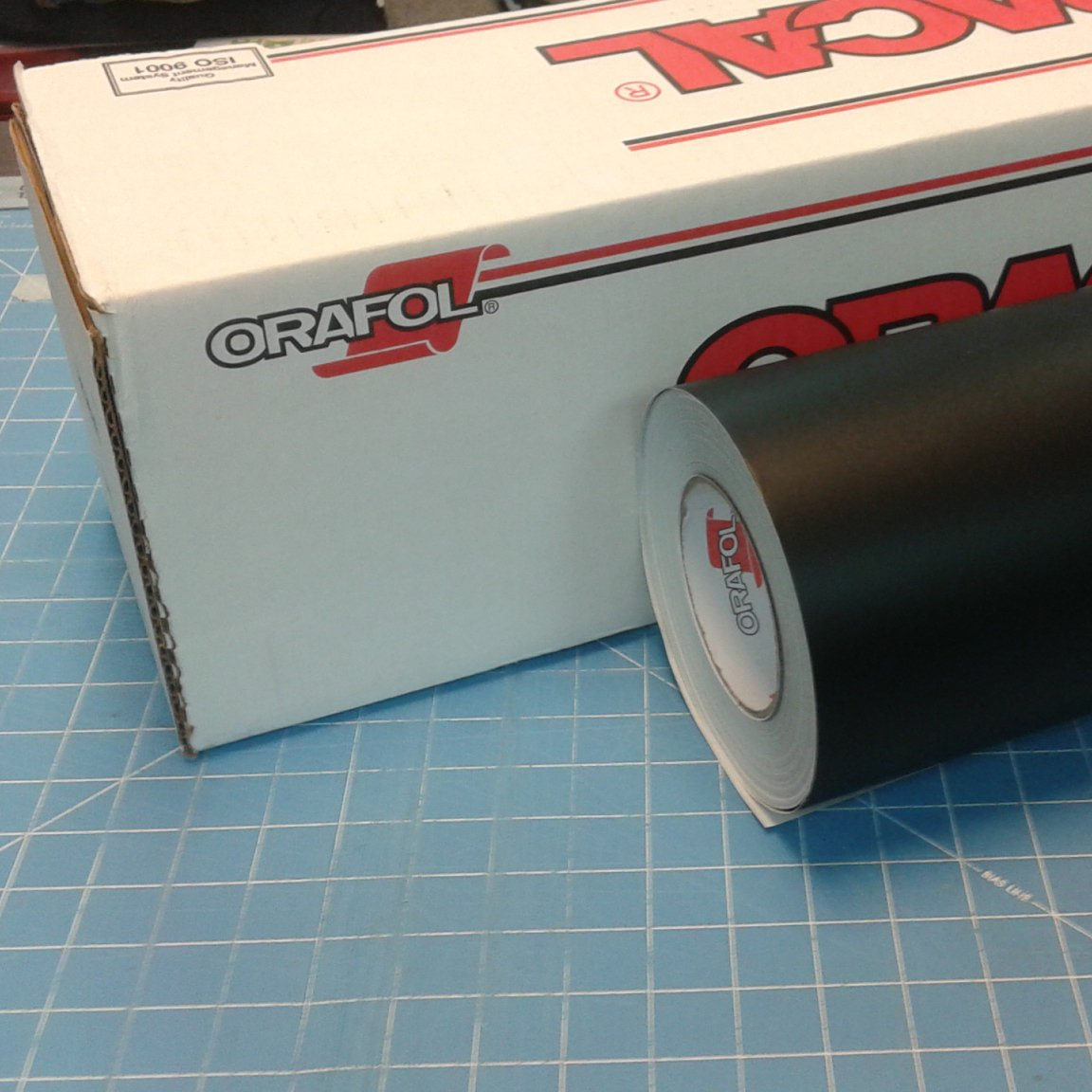 24'' x 100 Ft Roll of Oracal 651 Matte Black Vinyl for Craft Cutters and Vinyl Sign Cutters