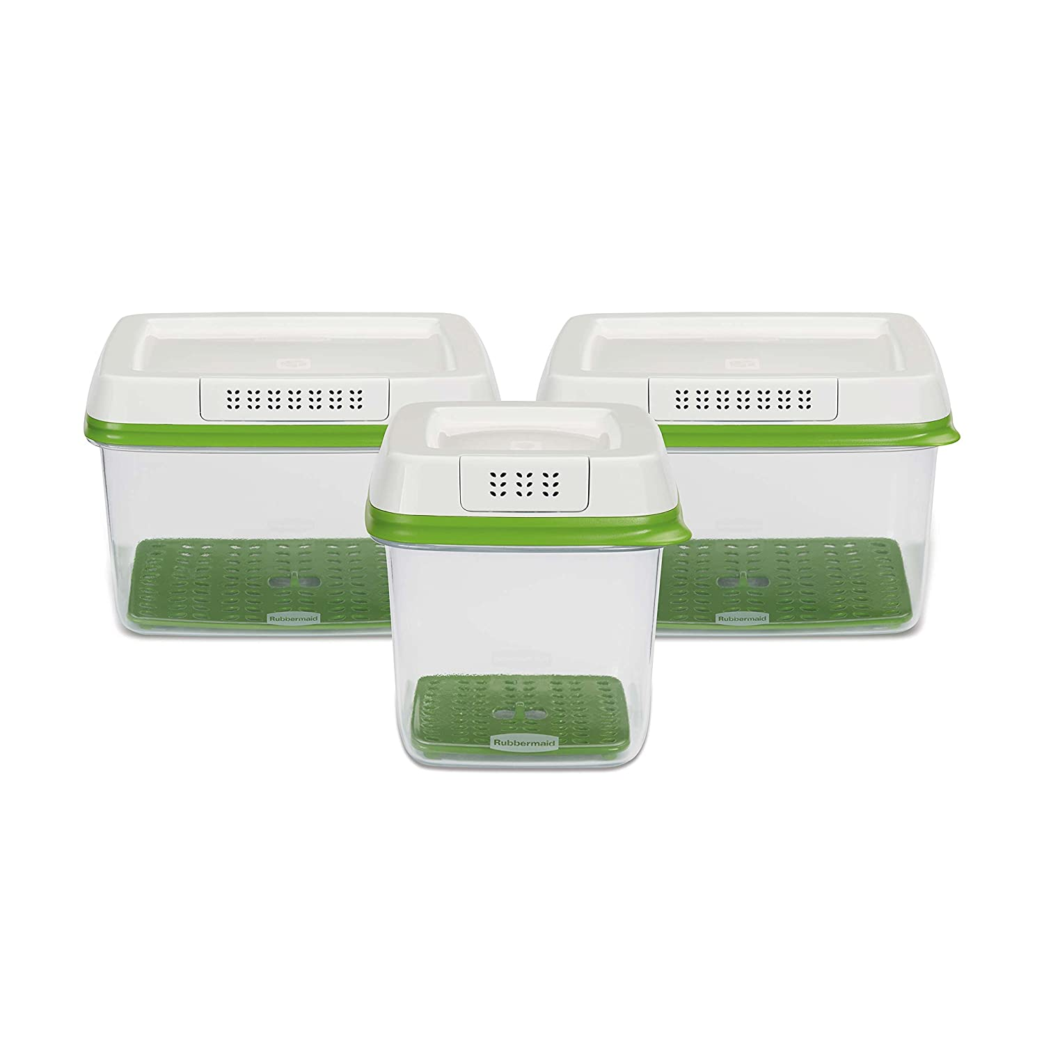 Rubbermaid Freshworks Produce Saver Food Storage Containers Set Of Medium Summer Fresh Tupperware 3 Home Kitchen