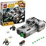LEGO Star Wars - Speeder Terrestre de Moloch, Juguete de La Guerra de las Galaxias de Construcción para Revivir las Aventuras de Han Solo, Incluye Minifiguras y Figuras de Perros de Caza (75210)