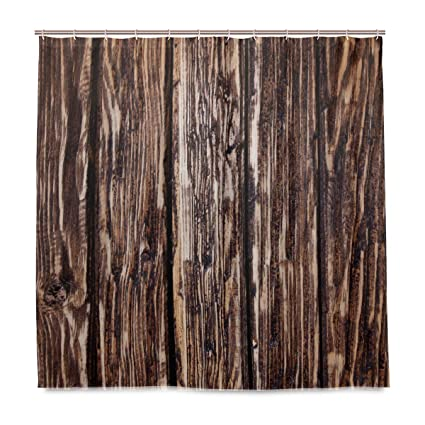 Image Unavailable Not Available For Color DNOVING Shower Curtain Natural Wood Grain