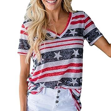 Camisetas de mujer ♥ LILICAT®2018 Blusa de moda Tops de manga corta casual con