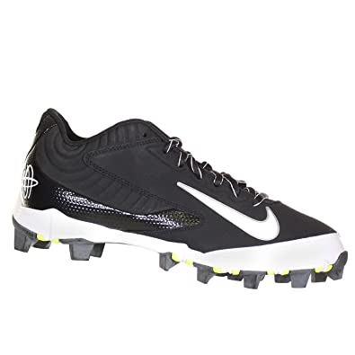 be99252ff34f Image Unavailable. Image not available for. Color  Nike Huarache Keystone  Low Black White Mens Baseball Cleats ...
