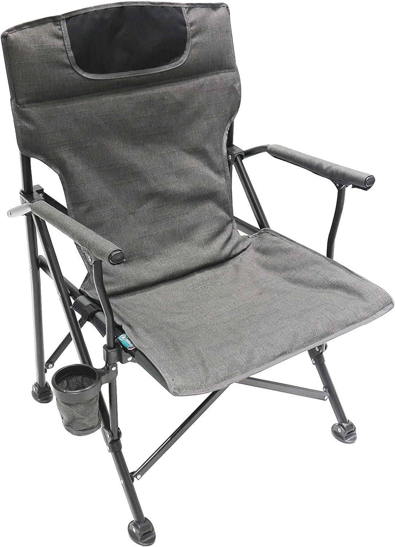 Homecall Chaise de camping pliable Noir//blanc cr/ème