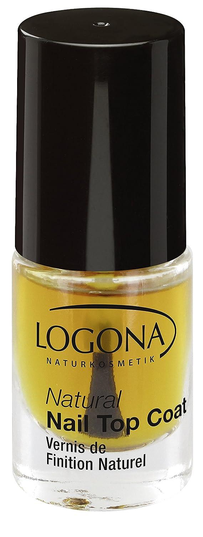 LOGONA Naturkosmetik Natural Nail Top Coat, Überlack für Nagellacke, Natürliche Inhaltsstoffe, 4ml 2482