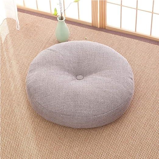 No Cojín Acolchado Lavable de Tatami futón Redondo de algodón y ...