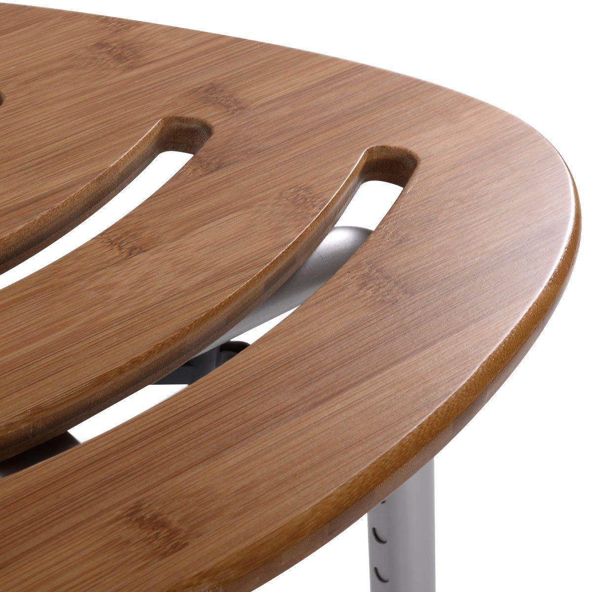 Amazon.com: Goplus Bamboo Bath Seat Shower Spa Massage Chair ...
