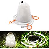 Huamai Portable USB LED Rope Lights, Camping Lantern Waterproof String Linear Lights for Camping, Hiking, Safety, Emergencies, Back Lighting (Bright White / RGBW Dimmable)