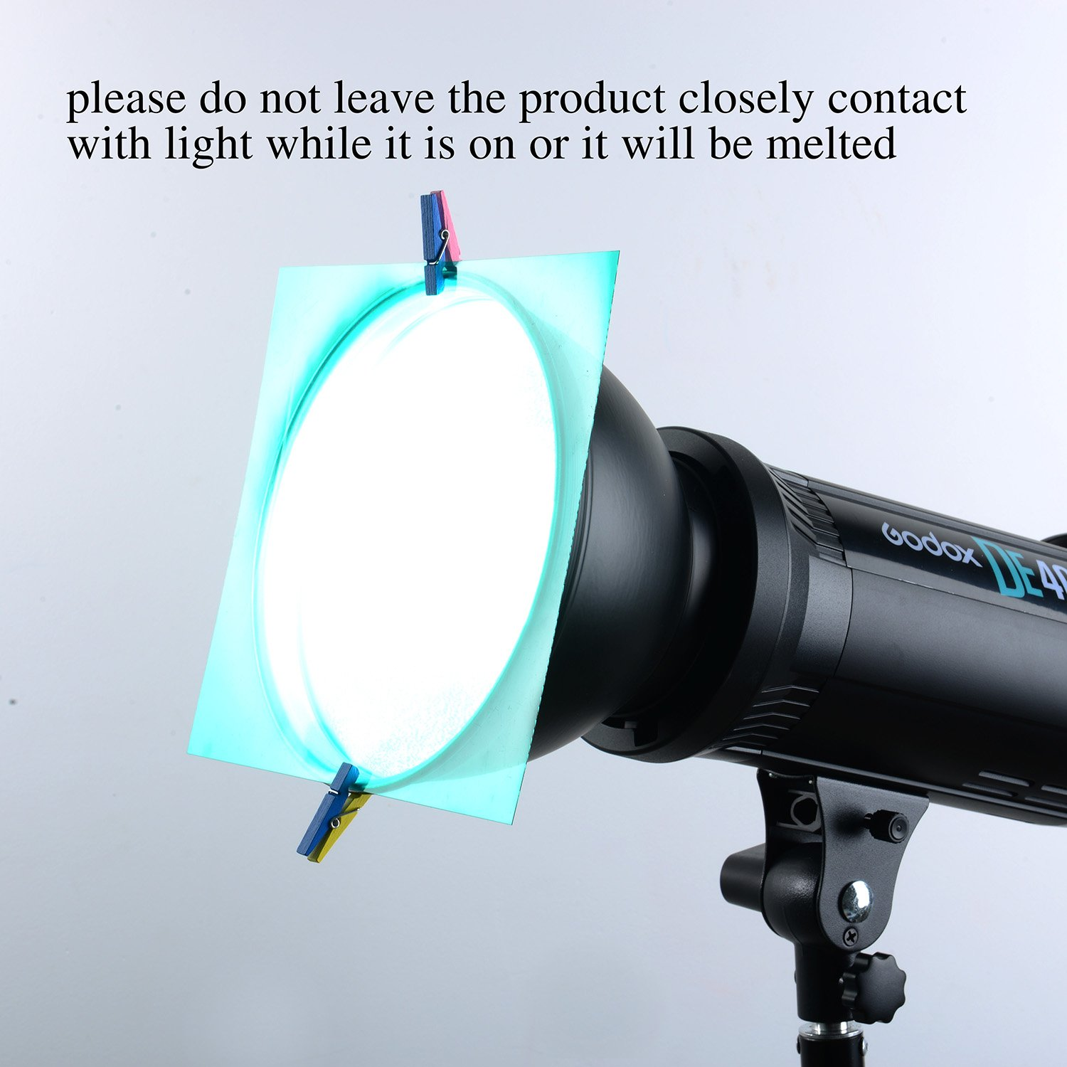 7 Sumind 14 Pieces Correction Gel Filter Overlays Transparency Color Film Plastic Sheets Gel Lighting Filters