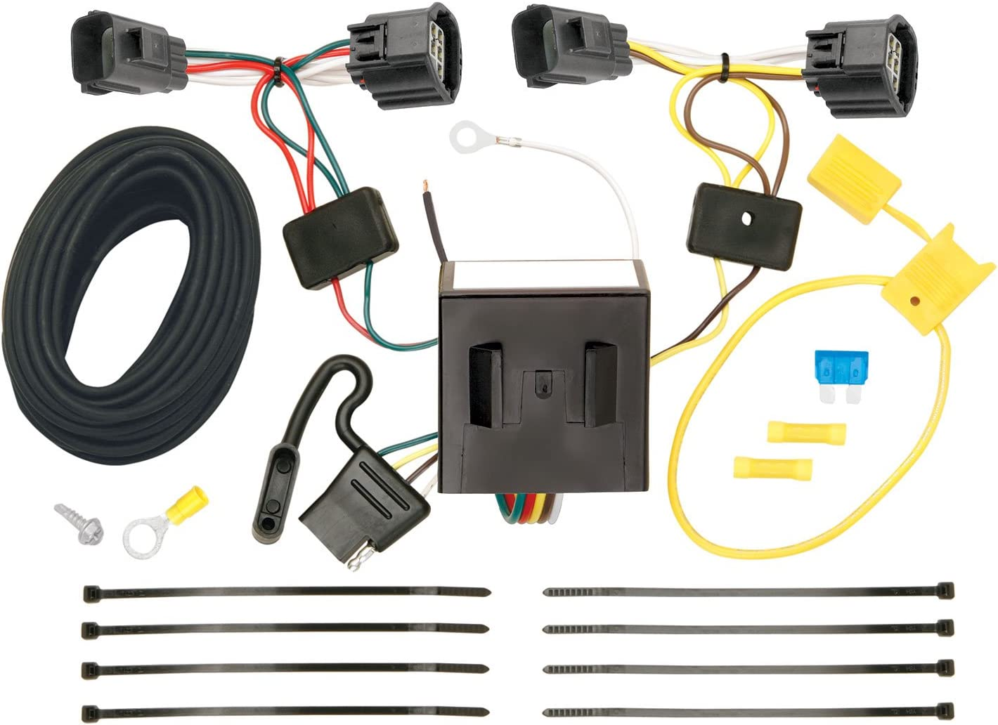 CURT 56334 Vehicle-Side Custom 4-Pin Trailer Wiring Harness for Select Dodge Nitro Jeep Liberty