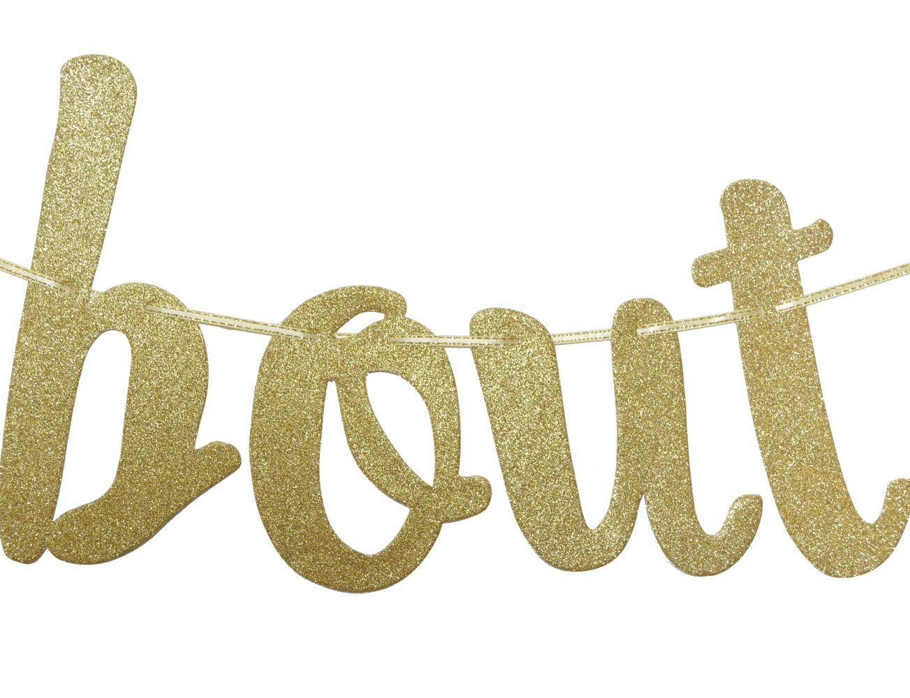 Taco Bout A Baby Gold Glitter Banner Sign Garland for Mexican Fiesta Themed Baby Shower Party Decorations Supplies Cursive Bunting Photo Booth Props