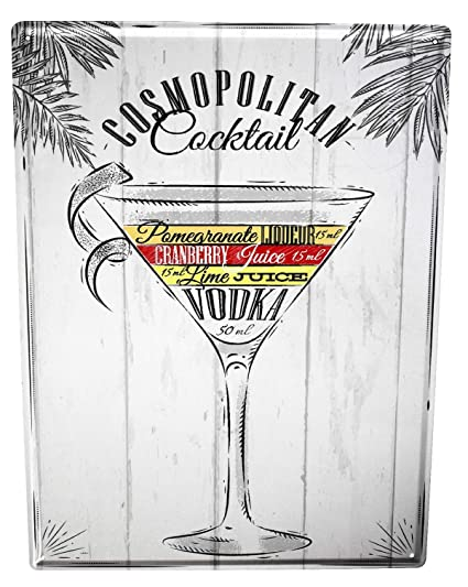Amazon.com: Tin Sign Party Retro Cosmopolitan cocktail Bar ...