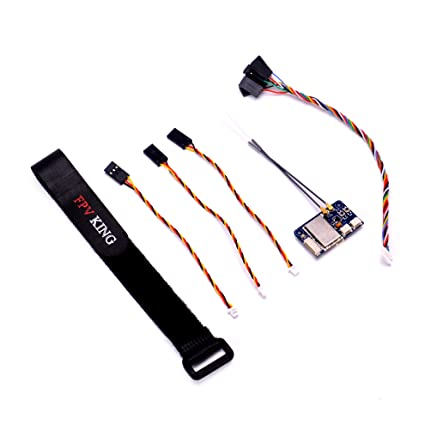 FPVKing Flysky FS-X6B Receiver 6 CH 2 4G i-Bus PPM PWM Receiver for AFHDS  i10 i6s i6 i6x i4x Transmitter with 250mm Lipo Battery Strap