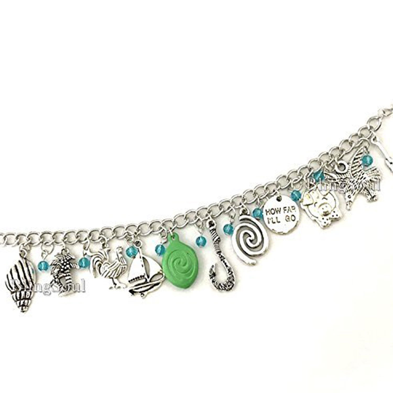 BlingSoul Maui Moana Charm Bracelet - Maui Hook Jewelry Moana Gift Merchandise for Women by BlingSoul (Image #5)