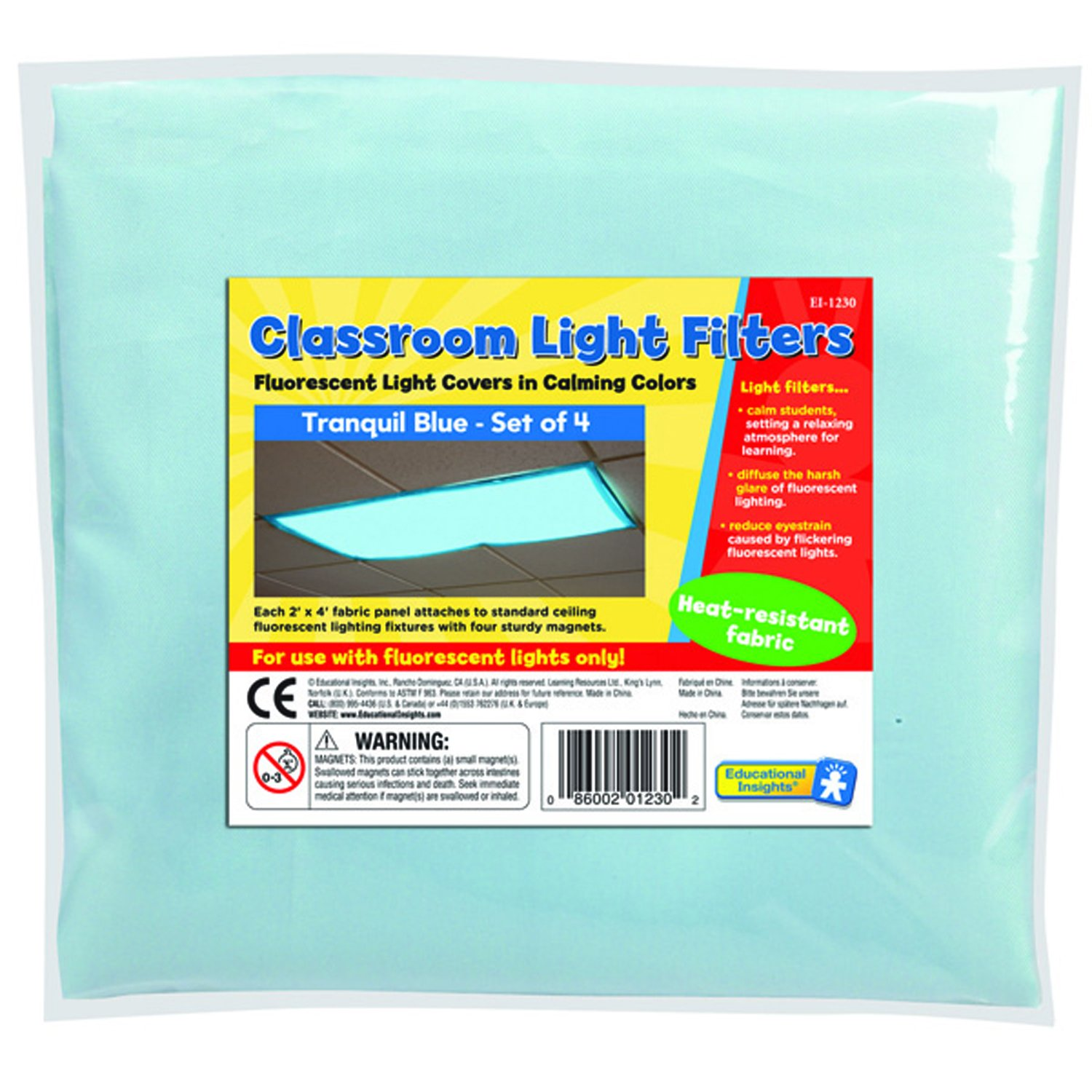Fluorescent Light Anxiety: EDUCATIONAL INSIGHTS FLUORESCENT LIGHT FILTERS (TRANQUIL