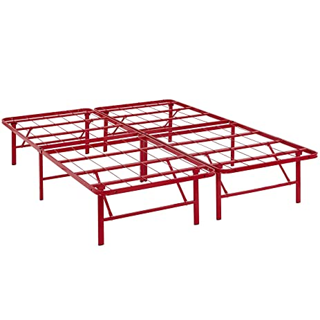 Amazon.com: Modway Horizon Full Bed Frame In Red - Replaces Box ...