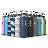 Thermi Protective Silicone Sleeve for Hydro Flask Water Bottles (18oz, 21oz, 32oz, 40oz, 64oz)