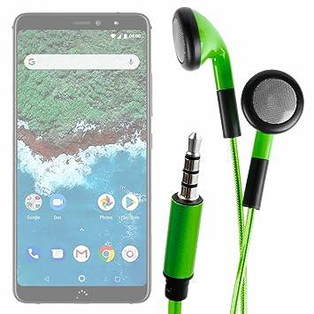 DURAGADGET Auriculares In-Ear con Luz LED Verde para Smartphone BQ ...