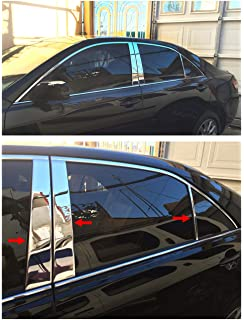 Works with 2007-2011 Toyota Camry 4 PC Stainless Steel Chrome Pillar Post Trim Made in USA