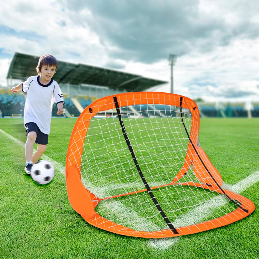 Akokie Juguetes de Puerta de Fútbol Juegos de Futbol Mini Balompié Bomba de Balón de Fútbol Juguetes Playset para Exteriores para Niños y Niñas 3+