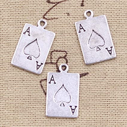 Enamel Charms Playing cards Poker Pendant Jewelry Making Small Pendants 1000Y