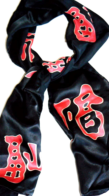 100% Luxurious Charmeuse Silk Scarf Hand Painted Handmade by Jingjingart