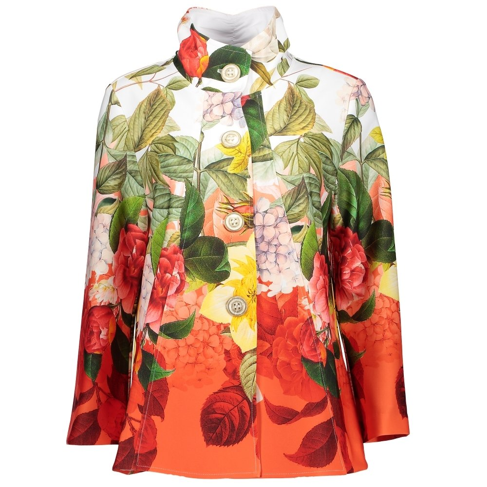 Joseph Ribkoff Floral Print Stand Collar Jacket Style 181704 Size 20