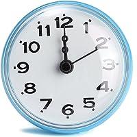 Cisixin Reloj reloj de bolsillo de baño fijado con ventosa accesorios para baño para fijación óptima