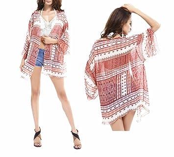 Playa blusa kimono Cardigan, Chickwin De La Mujer Verano Gasa Kimono Fundas De Playa Bikini