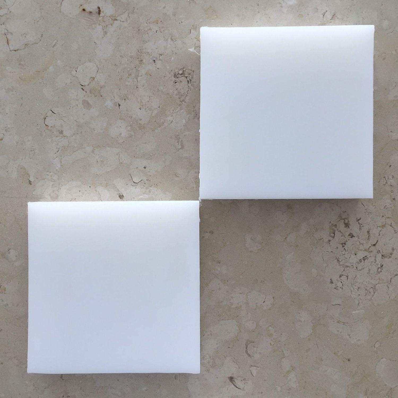 HDPE High Density Polyethylene Plastic Sheet 1//2 x 6 x 12 Natural