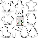 Christmas Cookie Cutter Set-Gingerbread Men, Snowflake, Reindeer, Angel, Christmas Tree, Snowman, Santa Face and More…