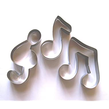 Ferbixo 3x Music Notes Signs Fondant Pastry Baking Cookie Cutter Set
