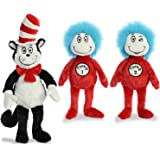 "Aurora Plush Bundle of 3, 20"" Cat in the Hat, and 12"" Thing 1 & 12"" Thing 2"