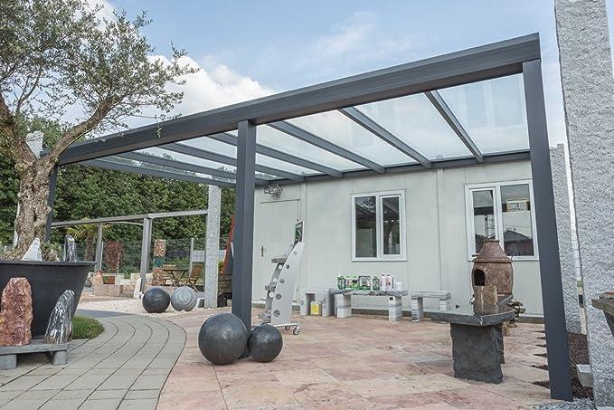 Cubierta de aluminio para terraza, con vidrio laminado de ...