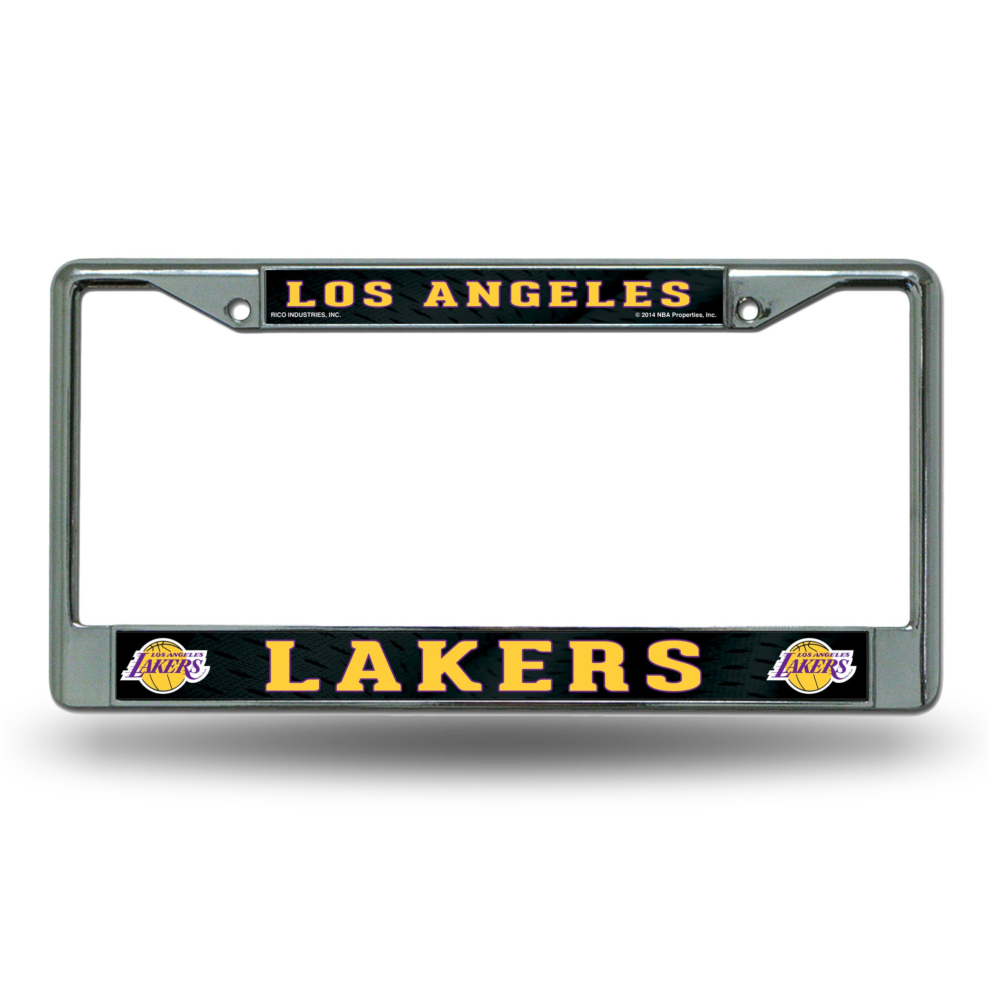 Rico Industries RIC-FC82003 Los Angeles Lakers NBA Chrome License Plate Frame