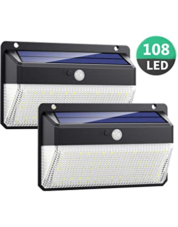 Luz Solar Exterior 108LED, Kilponen Foco Solar Exterior con Sensor de Movimiento Lámpara Solar Impermeable