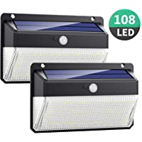 Luz Solar Exterior 108LED, Kilponen Foco Solar Exterior