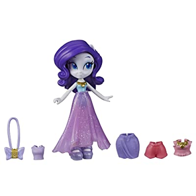 My Little Pony Equestria Girls Fashion Squad Rarity, 3-Inch Potion Mini Doll Toy with Outfit and Surprise Accessories for Kids 5 and Up: Toys & Games [5Bkhe0901486]