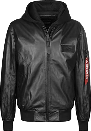 best cheap 06dda ff89d Alpha Industries Jacket MA-1 D-Tec Leather LW: Amazon.co.uk ...