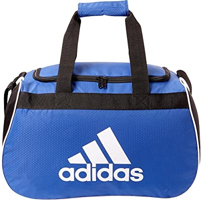 adidas Diablo II Gear Up Small Gym Travel All Sports Gear Duffle Bag (Royal Blue/Black/White Logo)