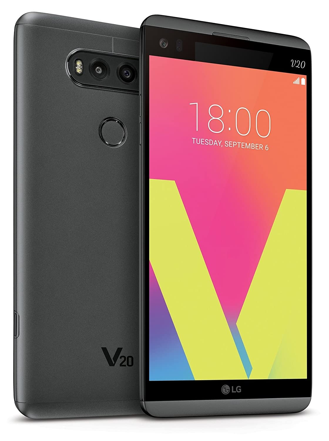 LG V20 64GB 5.7-inch AT&T Smartphone with Superior Video, Photography, Next-Level Audio - Unlocked for All GSM Carriers Worldwide (Titan Gray)