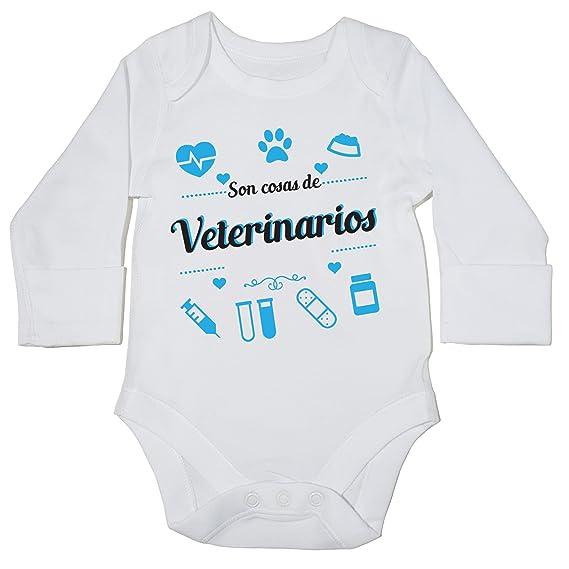 HippoWarehouse Son Cosas de Veterinarios body manga larga bodys pijama niños niñas unisex: Amazon.es: Ropa y accesorios