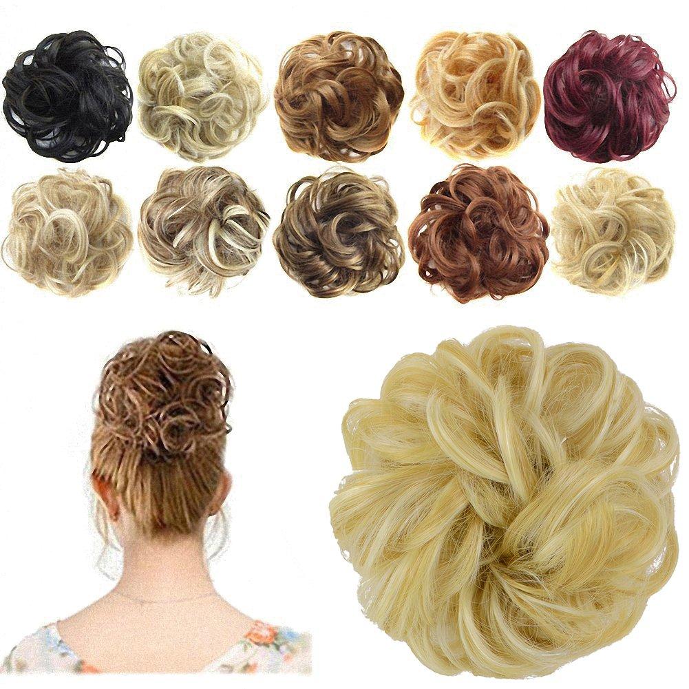 amazoncom prettyshop 100 human hair up scrunchie