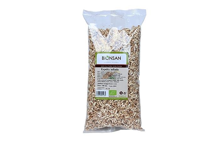 Bionsan Espelta Inflada de Cultivo Ecológico - 3 Paquetes de 130 gr - Total : 390