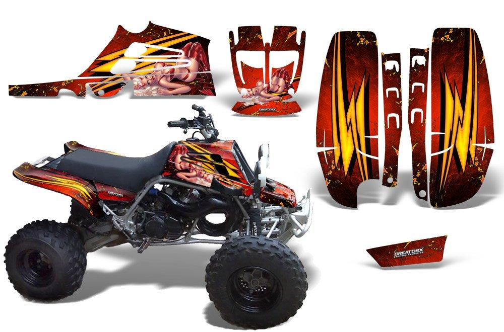 CreatorX Yamaha Banshee 350 Graphics Kit For Fullbore Plastics Little Sins Red
